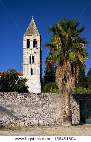 Architecture of Vis island in Croatia. Monument buildings.