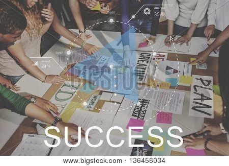 Success Business Growth Lanuch Motivation Concept