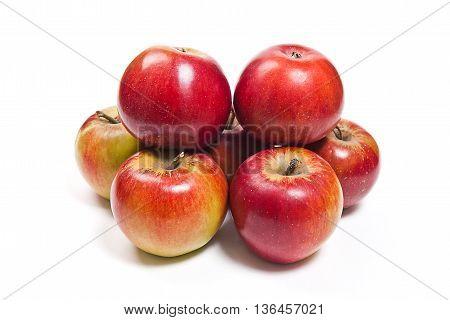 Ripe Juicy Fruits Isolated On White Background.