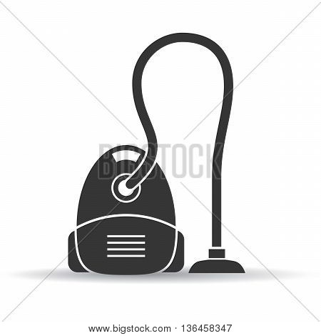 Vacuum cleaner vector icon isolated on white background