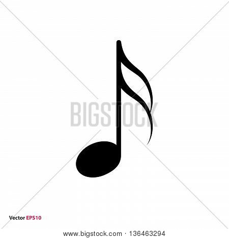 Black isolated music sixteenth note vector icon