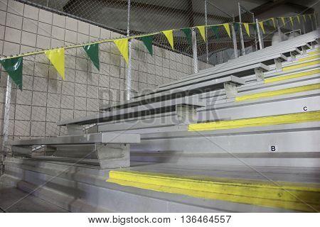 Bleachers at a sports dome in Michiga
