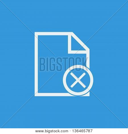File Cancel Icon In Vector Format. Premium Quality File Cancel Symbol. Web Graphic File Cancel Sign