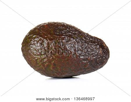 Avocado dark brown isolated on white background.