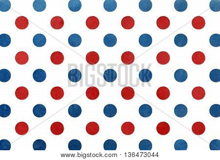 Watercolor Dark Blue And Red Dot Background.