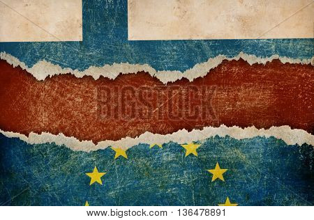 Finland withdrawal from European union fixit concept