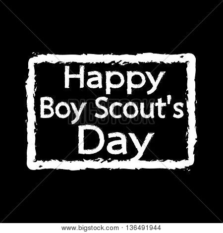 an Images of happy boy scout day Illustration design