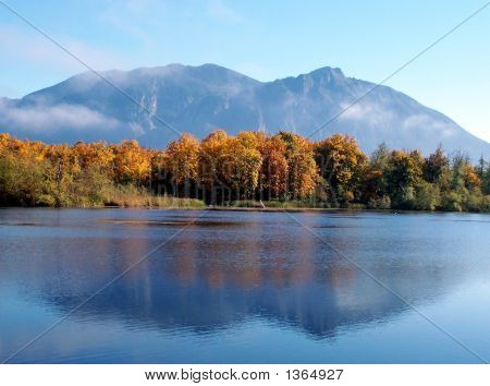 Mt Si And Pond