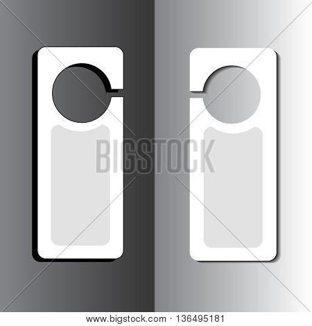 Please do not disturb door hanger vector icon.