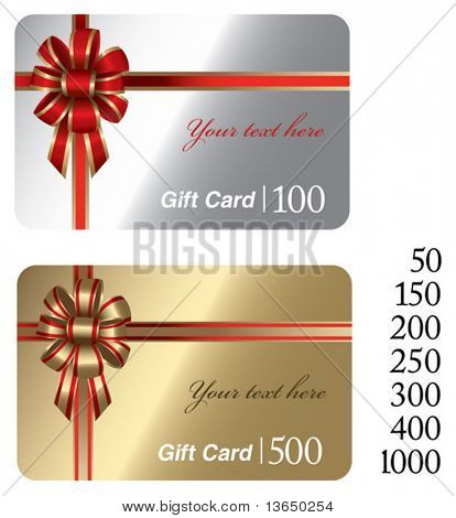 beautiful christmas gift cards. vector