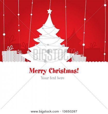 Cute christmas design. vector
