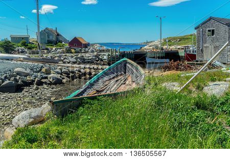 A view of the fishing village of Peggy's Cove, Nova Scotia.