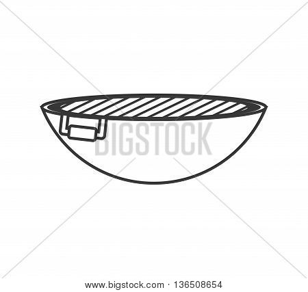 Steak house concept represented by roaster icon. isolated and flat illustration