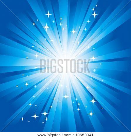 Magic light. Vector.