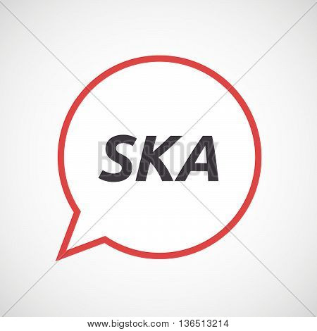 Isolated Comic Balloon Icon With    The Text Ska