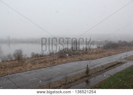 Precipitation in the form of snow in May