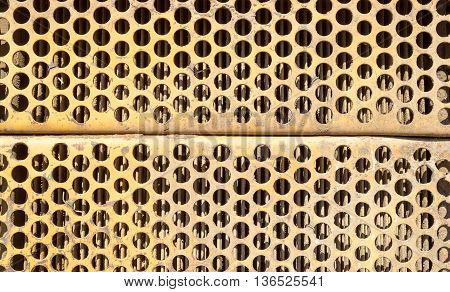 Orange Rusted Metal Ventilation Grill