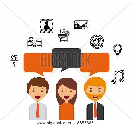 business person talking isolated icon design, vector illustration  graphic