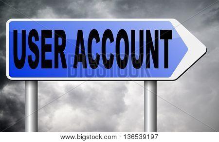 Your user account member registration navigation open or create membership profile