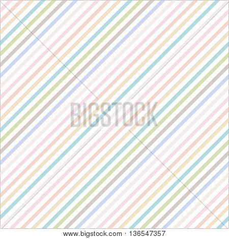 Seamless diagonal stripes pattern with pastel colors - stock vector