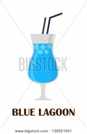 Blue lagoon cocktail shot refreshment beverage tropical juice isolated on white. Blue lagoon cocktail ice fruit cold, sweet curacao. Lemonade liquid party lemon vodka blue lagoon cocktail.