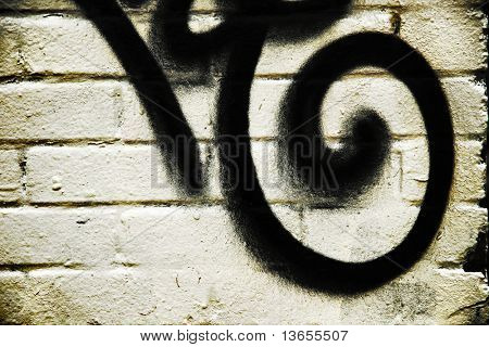 swirl and brick graffiti