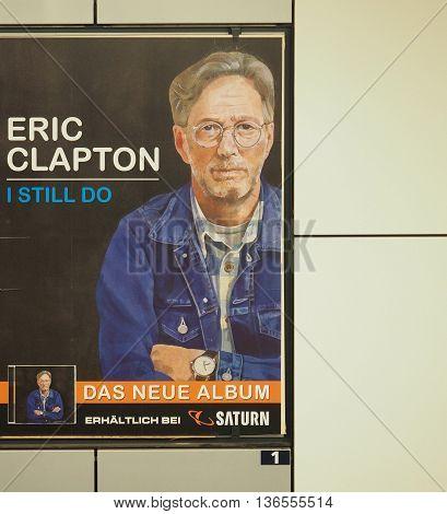 Eric Clapton Album Poster