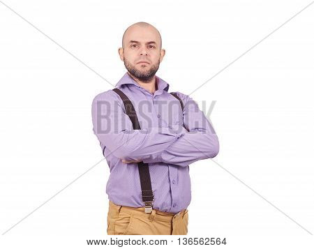 Arrogant Man Businessman In A Shirt