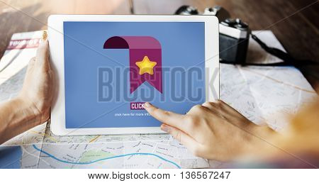 Favourite Bookmark Information Network Click