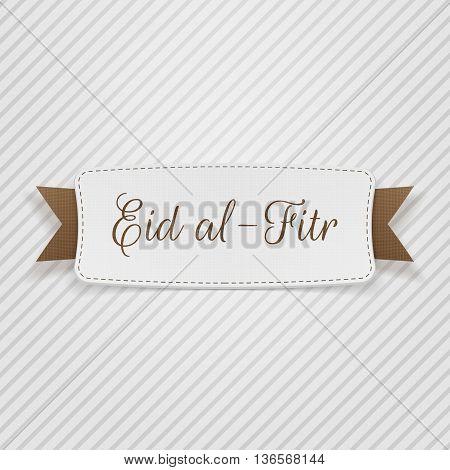 Eid al-Fitr decorative greeting Tag. Vector Illustration
