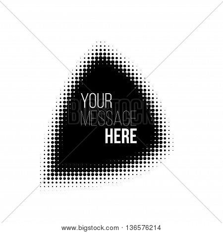 black and white triangle halftone pattern. Stock vector backround.