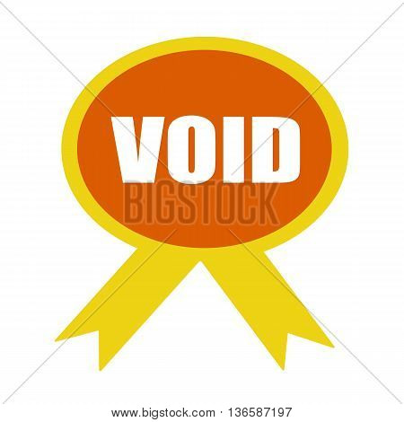 void white wording on background Orange ribbon