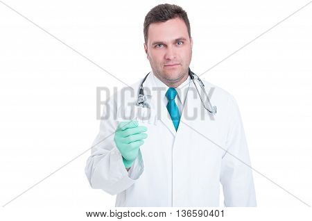 Male Medic Feeling Uncomfortable About Suppositories Blister