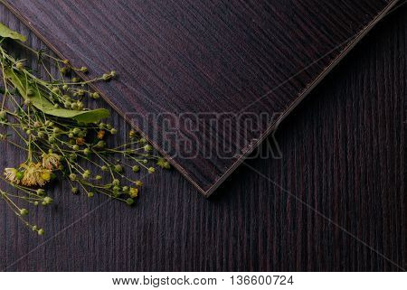 Flat Lay Laminated Wooden Planks. Topview