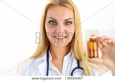 Beautiful Smiling Female Medicine Doctor