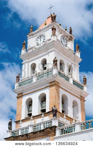 The Metropolitan Cathedral of Sucre in Bolivia