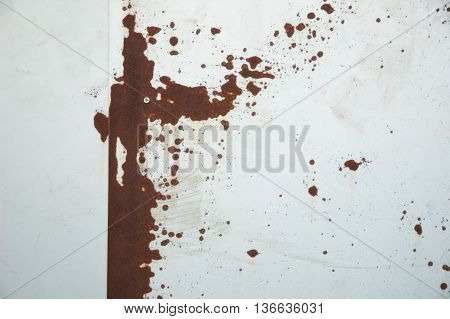 The Rust Texture on Metal background in