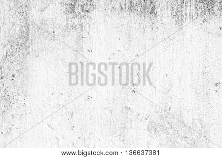 closeup surface detail of old white scratched grunge concrete wall - use for background in architecture structure or building concepts