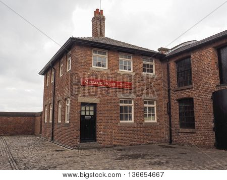 Mermaid House At Merseyside Maritime Museum In Liverpool