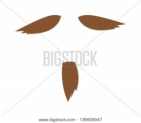 Silhouette vector mustache. Mustache black hair and man mustache hipster. Mustache retro curly black silhouette collection beard mustache. Mustache barber silhouette hairstyle