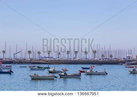Fishery Boats In Coast Marine
