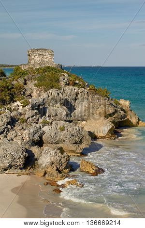 God Of Winds Temple In Tulum Mexico