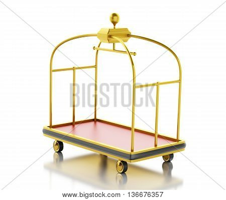 3d renderer image. Luggage cart. Isolated white background.