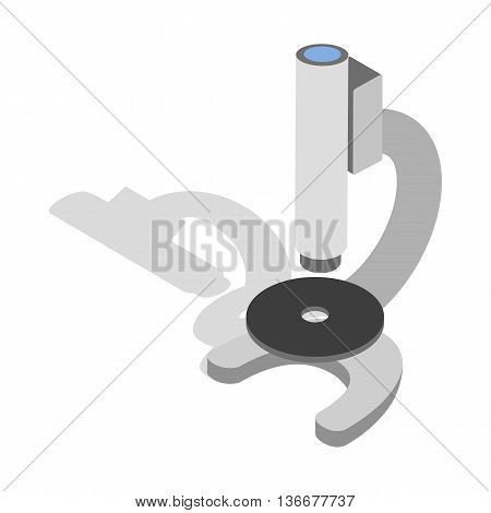 Microscope icon in isometric 3d style isolated on white background. Laboratory equipment symbol