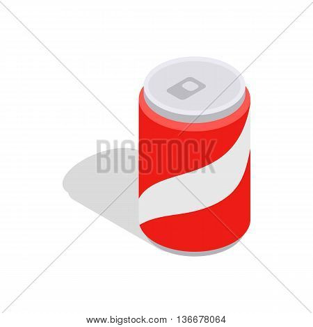 Carbonated drink icon in isometric 3d style isolated on white background. Drinking symbol