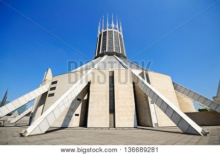 Roman Catholic Cathedral Liverpool Merseyside England UK Western Europe.