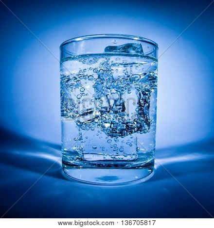 Glass Of Water With Ice
