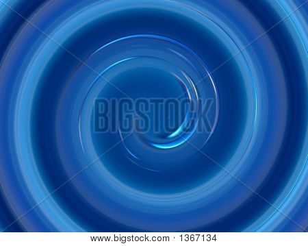 An abstract design - a swirl in shades of medium blue. poster