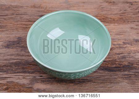 Empty Bowl On Wood