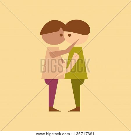 flat icon on stylish background homosexual gays lovers